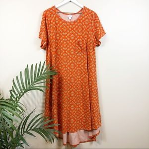 Lularoe Hi-Lo 2XL Orange Dress